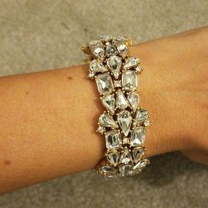 J. Crew crystal rhinestone bracelet